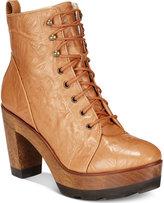 Kelsi Dagger Brooklyn Farren Block-Heel Lace-Up Platform Boots