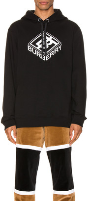 Burberry Logo Hoodie in Black | FWRD