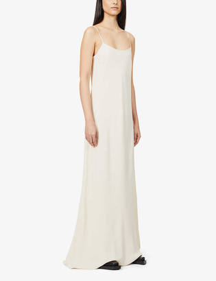 The Row Ebbins scoop-neck crepe maxi dress