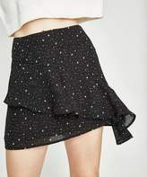 Alice In The Eve Galaxy Frill Skirt Black