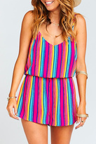 Show Me Your Mumu Stripe Rorey Romper
