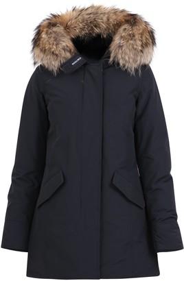 Woolrich Hooded Fur Trimmed Coat