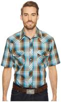 Roper 1647 Turqoise and Brown Plaid Men's Clothing