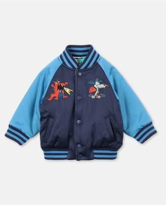 Stella McCartney Dragons Satin Bomber Jacket