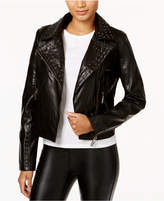 Joujou Jou Jou Studded Faux-Leather Moto Jacket