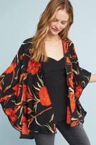 Anthropologie Red Roses Kimono