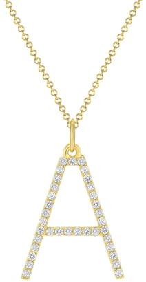 Ron Hami 14K Yellow Gold Diamond Initial Pendant Necklace - 0.16-0.52 ctw