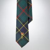 Tartan Embroidery Wool Tie
