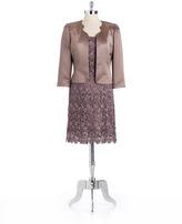 Tahari ARTHUR S. LEVINE Petite Flyaway Jacket Dress