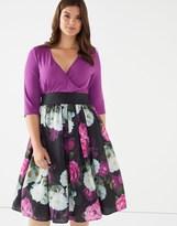Scarlett & Jo Plus Floral Midi Dress