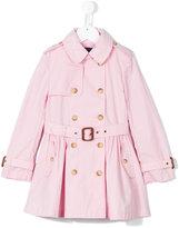 Ralph Lauren flared skirt trench coat - kids - Cotton - 4 yrs
