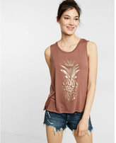 Express Foil Pineapple Muscle Tank