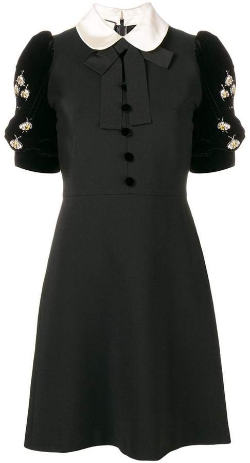 Gucci embellished short-sleeve dress