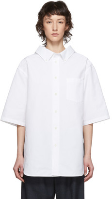 Balenciaga White Swing Short Sleeve Shirt