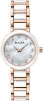 Bulova Womens Two Tone Bracelet Watch-98p160