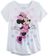 Disney Disney's Minnie Mouse Skipping Girls 7-16 Glitter Graphic Tee