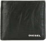 Diesel logo plaque wallet - men - Leather/copper - One Size