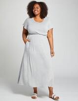 Lane Bryant Heathered Short-Sleeve Maxi Dress