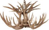 One Kings Lane Vintage Custom Deer Chadelier