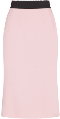 Dolce & Gabbana Scallop-Edge Waistband Skirt