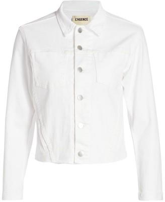 L'Agence Janelle Slim-Fit Denim Jacket