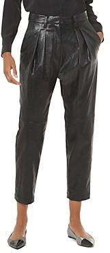 MICHAEL Michael Kors Pleated Faux-Leather Pants