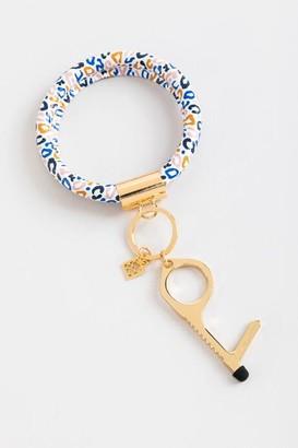 Mary Square Clean Key Bracelet in Multi Leopard - Multi