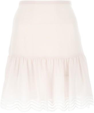 See by Chloe Striped Hem A-Line Skirt