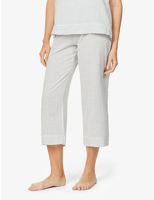 Eberjey Nautico striped cotton-blend pyjama bottoms