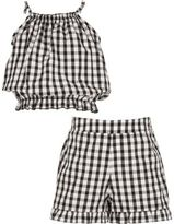 River Island Girls black gingham cami and shorts outfit