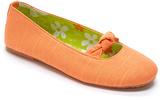 Tender Tootsies Tangerine Ballerina Slipper