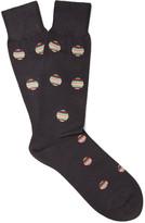 Paul Smith Polka-Dot Mercerised Cotton-Blend Socks