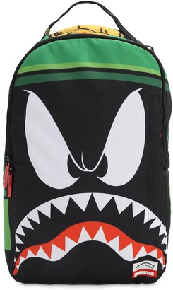 Sprayground Martian Shark Printed Canvas Backpack