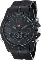 U.S. Polo Assn. Men's Analog-Digital Dial Rubber Strap Watch US9058