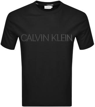 Calvin Klein 2 Tone Logo T Shirt Black