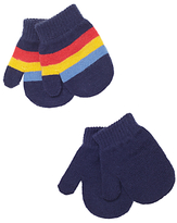 John Lewis Striped Magic Mittens, Pack of 2