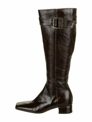 Aquatalia Leather Riding Boots Brown