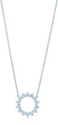 Tiffany & Co. Open circle pendant of diamonds in platinum