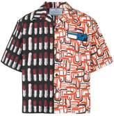 Prada contrast pattern shirt