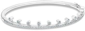 De Beers 18kt white gold diamond Dewdrop bracelet