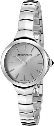 Emporio Armani Swiss Made Women's ARS8000 Analog Display Swiss Quartz Silver Watch