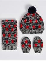 Marks and Spencer Kids' Hat, Scarf & Gloves Set