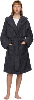 Tekla Grey Hooded Bathrobe