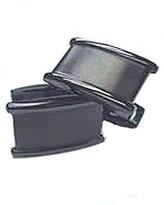Murano Gun-Metal Satin Cuff Links