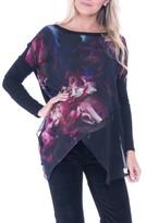 Olian Women's Bernadette Print Chiffon Layered Maternity Top