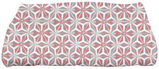 e by design Water Mosaic, Geometric Print Bath Towel, Coral