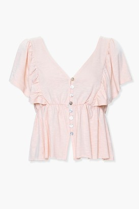 Forever 21 Split-Hem Butterfly Sleeve Top