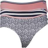 Original Penguin Womens Three Pack Brazilian Brief Ditsy Floral