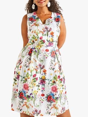 Yumi Curves Botanical Prom Dress, Multi