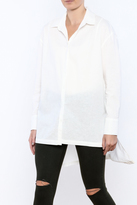 Easel White High-Low Shirt